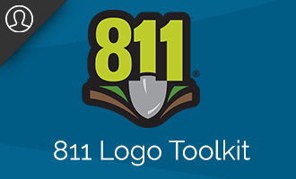 The 811 logo available in several approved versions and...