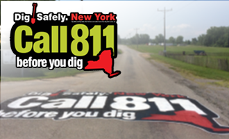Dig Safely New York Outdoor Painted Logo